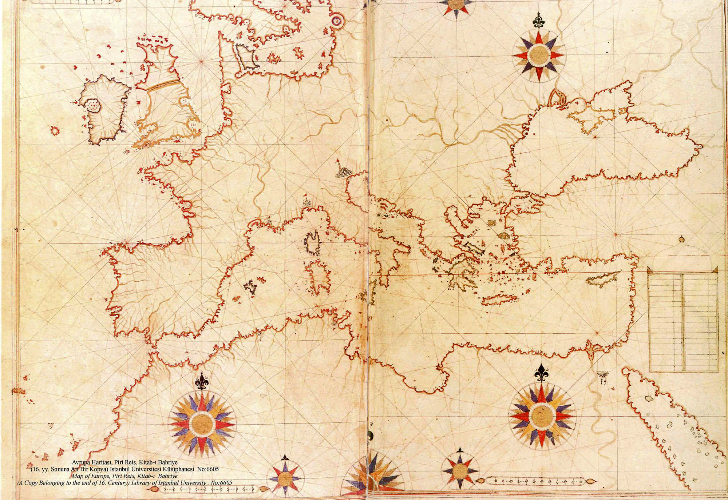 piri reis avrupa haritası kitab-ı bahriye