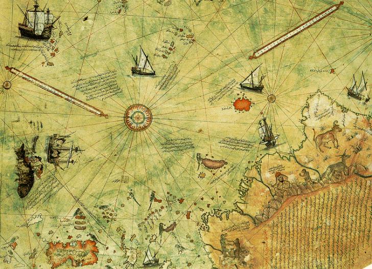 piri reis 1513'te hazırladığı dünya haritası