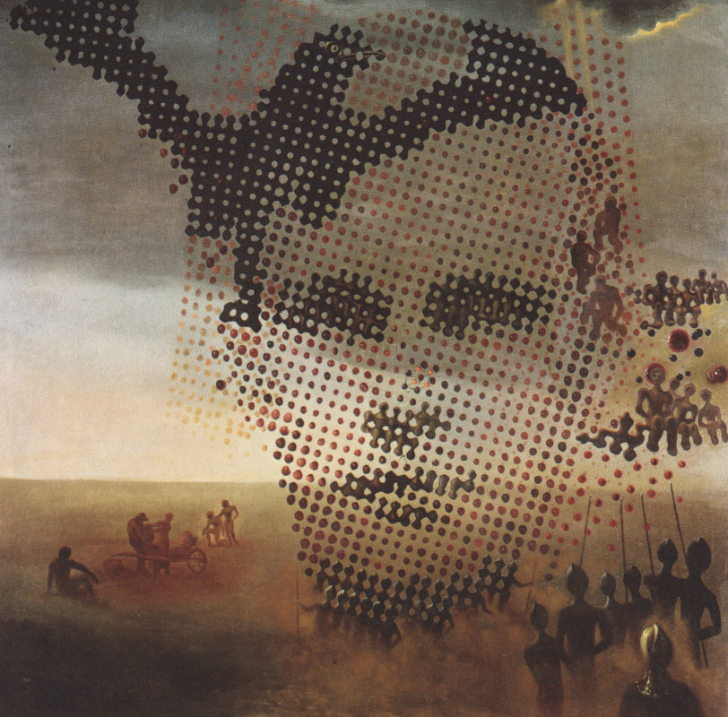 salvador dali, portrait of my dead brother, ölmüş kardeşin portresi, 1963