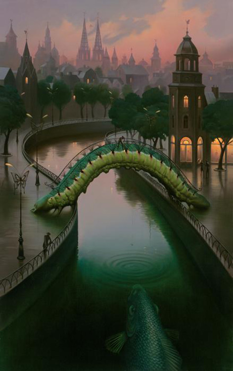 vladimir kush fish in the city tablo