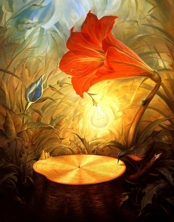 vladimir kush music of the woods tablo