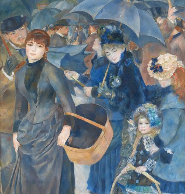 1881'de Cezayir'e gider. Sanatçı pek çok yerli kadın portresi ve birçok peyzaj yapar. Bu yıllarda Renoir artık kendini izlenimciliğin götürebileceği denli uzağa gelmiş görüyor ve artık bu akımın bir çıkmaz sokak olduğunu düşünüyordu.