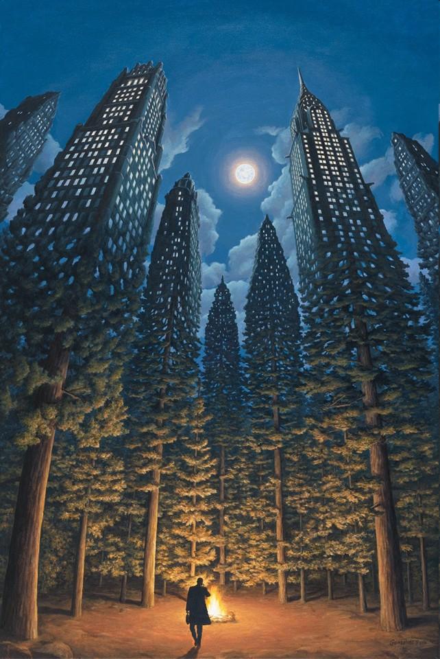 rob gonsalves, arboreal office, rob gonsalves resimleri, büyülü gerçekçilik