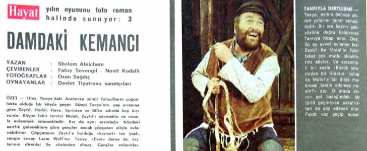 damdaki kemancı, türk tiyatrosu, türk tiyatrosu önemli oyunlar, türk tiyatrosu nedir, en önemli tiyatro oyunları, türk tiyatro oyuncuları