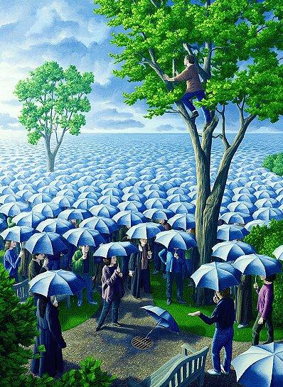 rob gonsalves, deluged, rob gonsalves resimleri, büyülü gerçekçilik