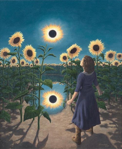 rob gonsalves, flower eclipse, rob gonsalves resimleri, büyülü gerçekçilik