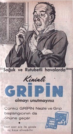 gripin ağrı kesici, nostalji, eski ürünler, nostaljik ürünler