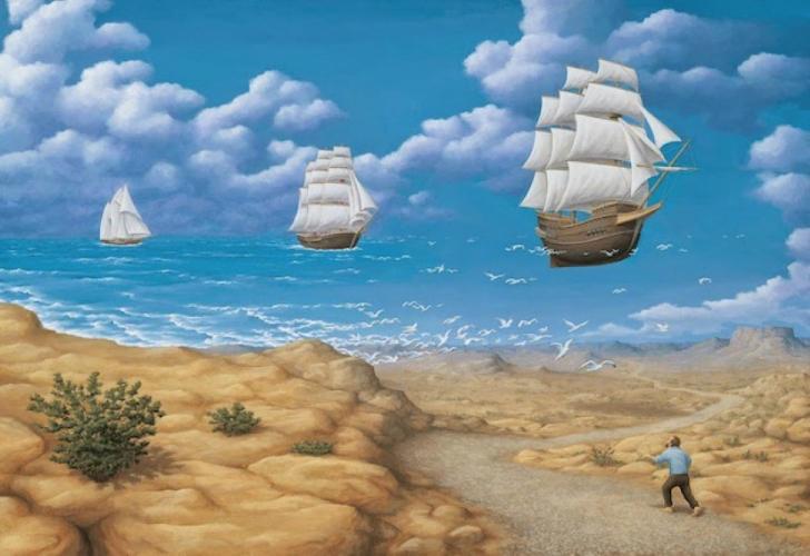 rob gonsalves, in search of sea, rob gonsalves resimleri, büyülü gerçekçilik