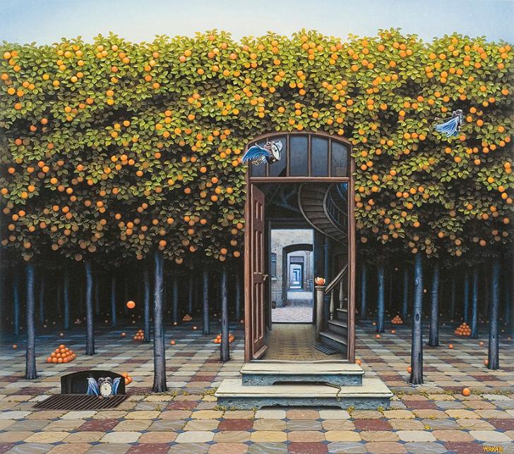 jacek yerka, sürreal resimler, jacek yerka'nın resimleri, orange grove
