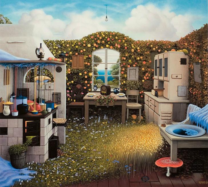 jacek yerka, sürreal resimler, jacek yerka'nın resimleri, painter's kitchen