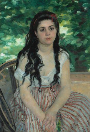 renoir - En été : La bohémienne, 1868