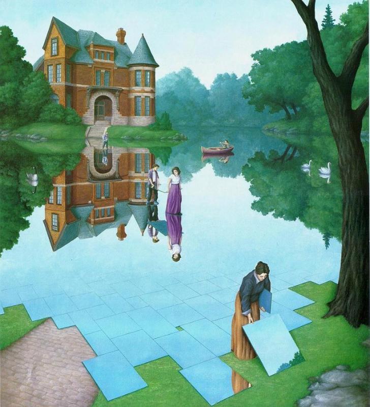 rob gonsalves, still waters, rob gonsalves resimleri, büyülü gerçekçilik