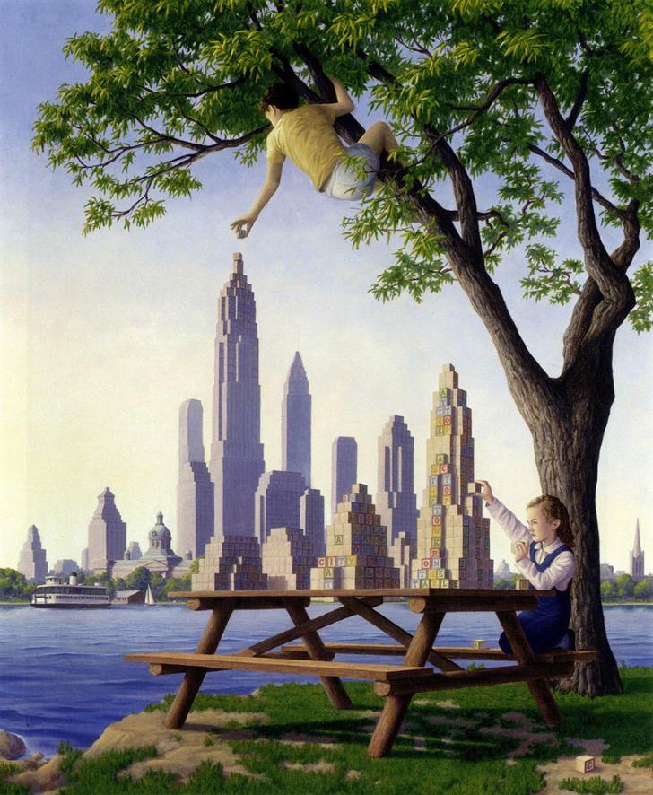 rob gonsalves, table top towers, rob gonsalves resimleri, büyülü gerçekçilik