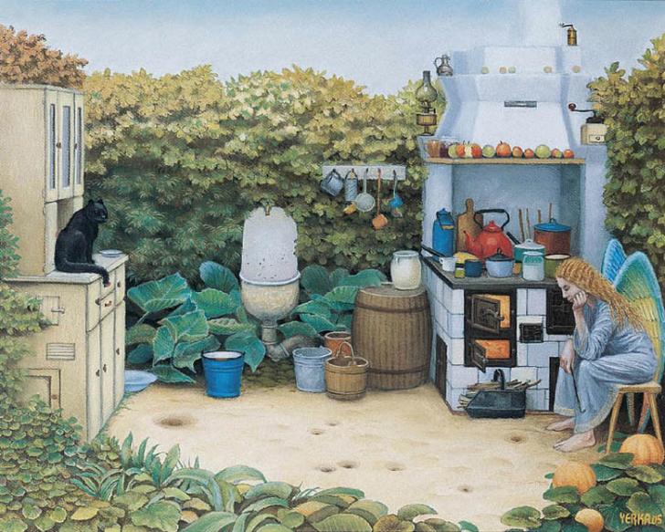 jacek yerka, sürreal resimler, jacek yerka'nın resimleri, the angels' kitchen