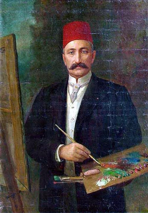 şeker ahmet paşa otoportre, türk ressamlar, portre resimleri, portre nedir, portre tablolar, resim, ressam, tablo, otoportre
