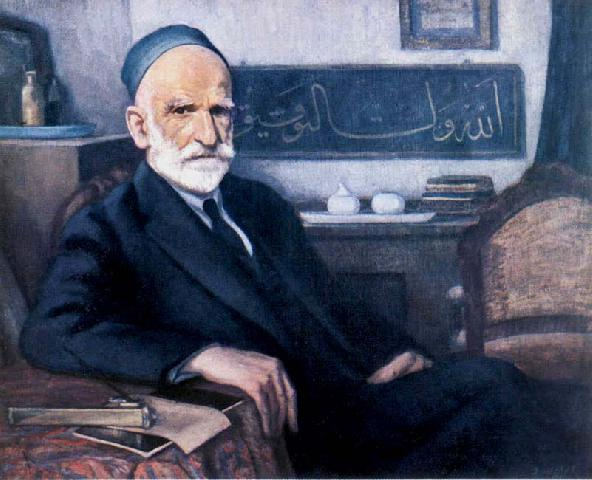 şeref akdik, hattat kamil akdik portresi, türk ressamlar, portre resimleri, portre nedir, portre tablolar, resim, ressam, tablo, otoportre
