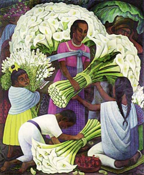 Diego Rivera, Flower Vendor