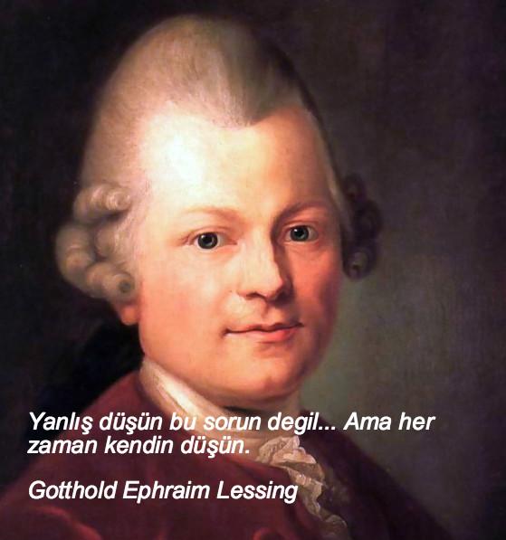 Gotthold Ephraim Lessing, düşündüren sözler, düşündüren özlü sözler, düşündüren güzel sözler, anlamlı sözler, güzel özlü sözler, güzel sözler