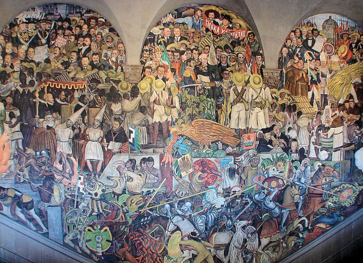 Diego Rivera, Mexico City Palacio Nacional Freski