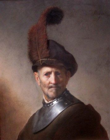 Rembrandt-An-Old-Man-In-Military-Costume-1630