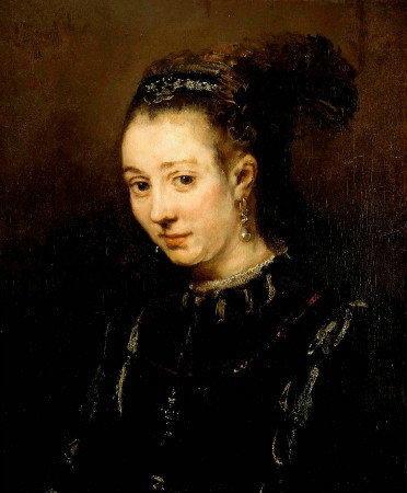 Rembrandt-Portrait-Of-A-Young-Woman-Magdalena-van-Loo-1668