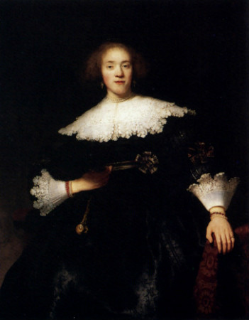 Rembrandt-Portrait-Of-A-Young-Woman-With-A-Fan-1633