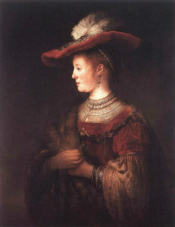 Rembrandt-Saskia-In-Pompous-Dress-1634