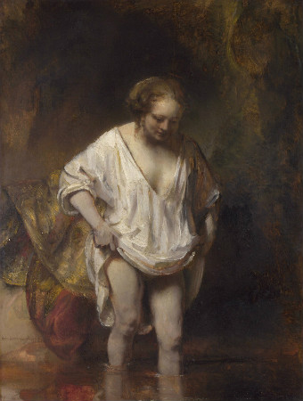 Rembrandt-Woman-Bathing-In-A-Stream-1654-Hendrickje-Stoffels