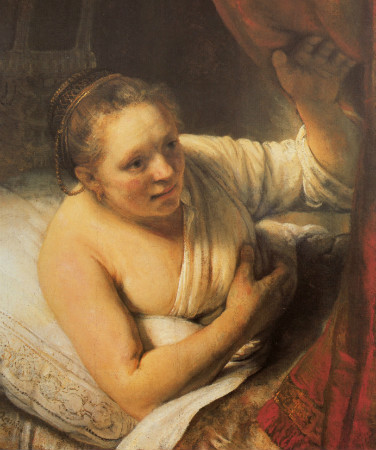 Rembrandt-Woman-In-Bed-1645