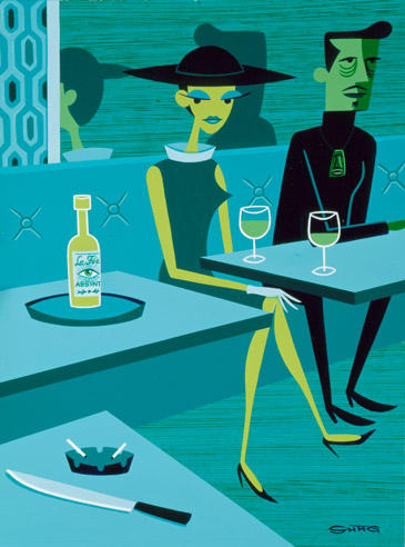 Josh Agle, The Absinthe Drinker