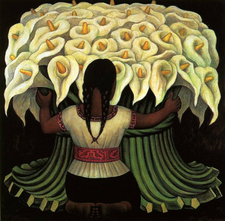 Diego Rivera, The Flower Seller