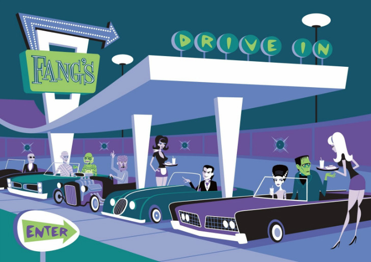 Josh Agle, Universal Monsters Fang's Drive In
