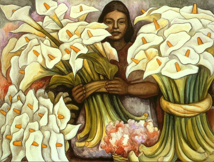 Diego Rivera, Vendedora De Alcatraces