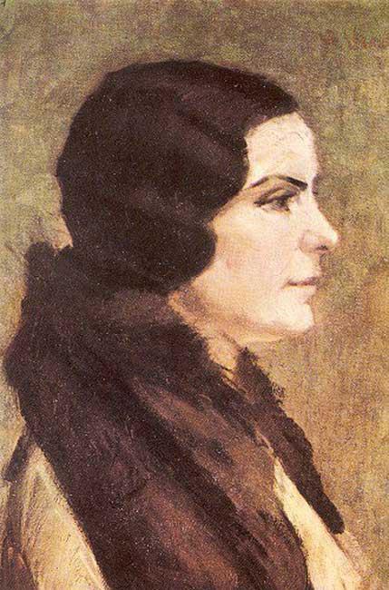 hasan vecihi bereketoğlu, leyla bereketoğlu portresi, türk ressamlar, portre resimleri, portre nedir, portre tablolar, resim, ressam, tablo, otoportre