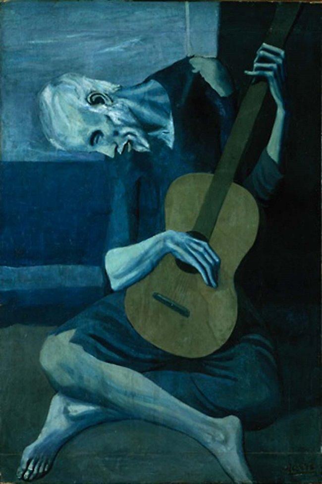 picasso, yaşlı gitarist