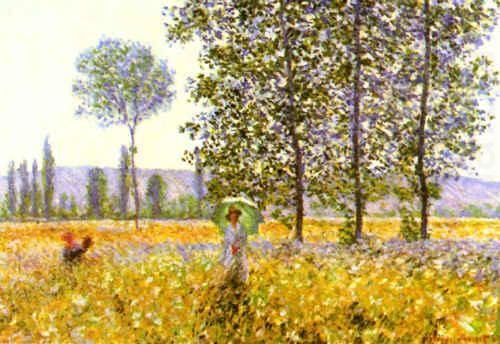 Claude Monet - İlkbaharda Tarlalar