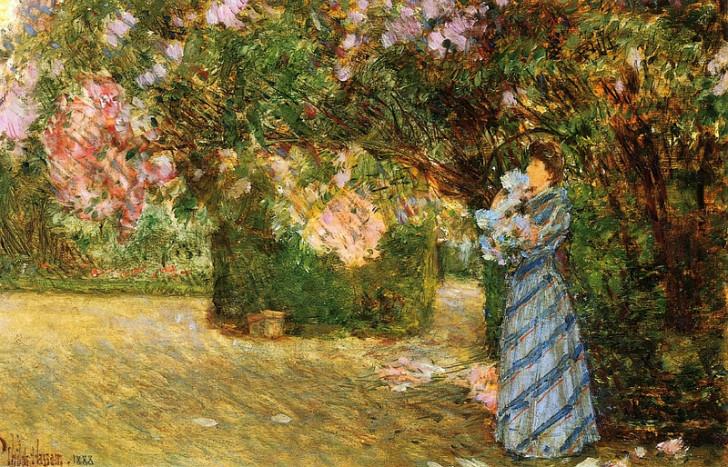 Claude Monet - Alice Hoschede Bahçede