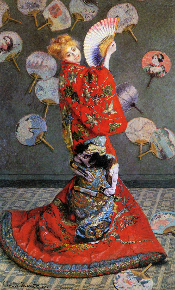Claude Monet - Japon Kostümü İçinde Camille Monet