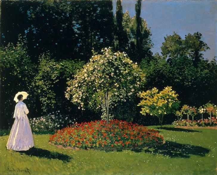 Claude Monet - Jeanne-Marguerite Lecadre Bahçede