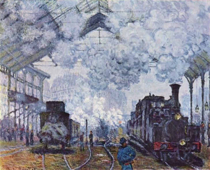 Claude Monet - Saint-Lazare Garı
