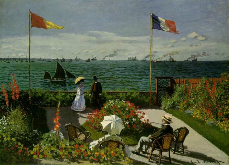 Claude Monet - Sainte-Adresse'te Teras