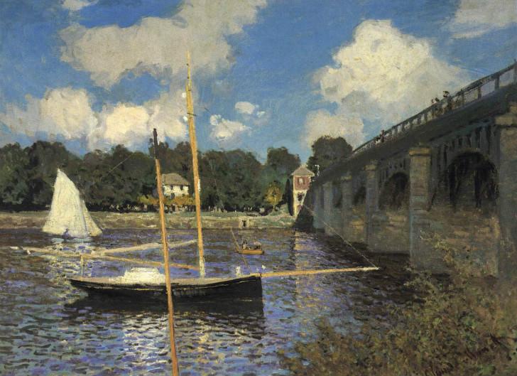 Claude Monet - The Road Bridge at Argenteuil