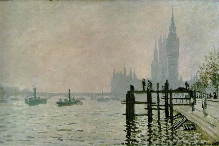 Claude Monet - The Thames Below Westminster