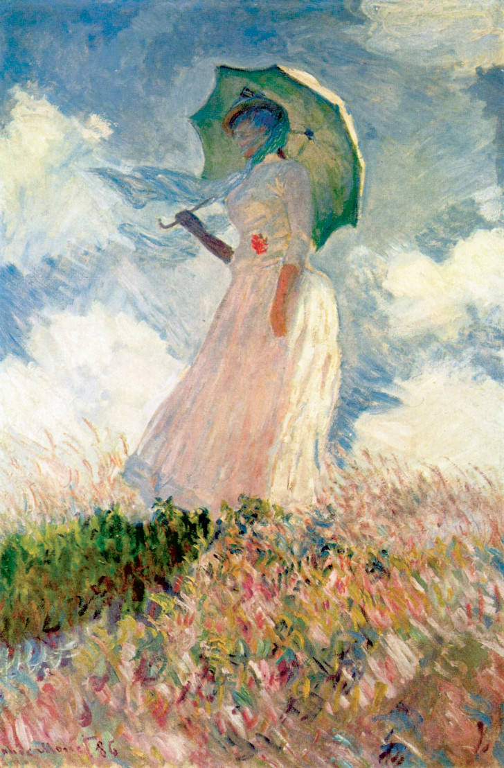Claude Monet - The Woman With A Parasol