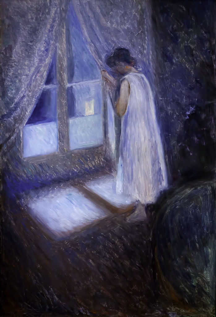 Edvard Munch - Girl Looking Out The Window