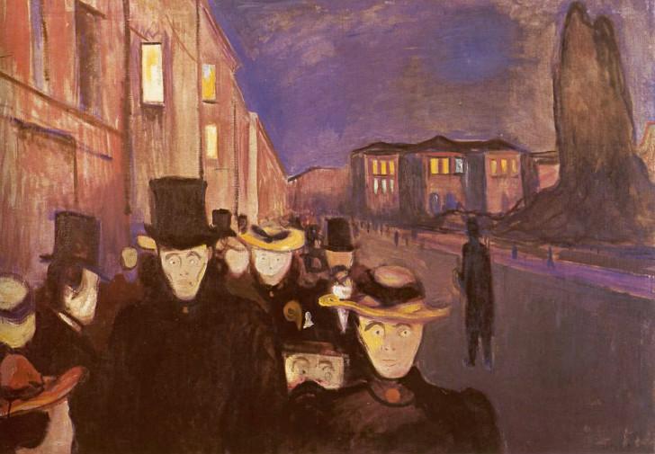 Edvard Munch - Karl Johan'da Akşam