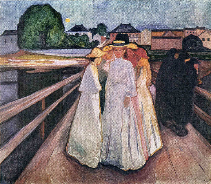 Edvard Munch - Ladies On The Bridge