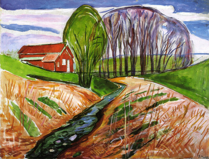 Edvard Munch - Spring Landscape At The Red House