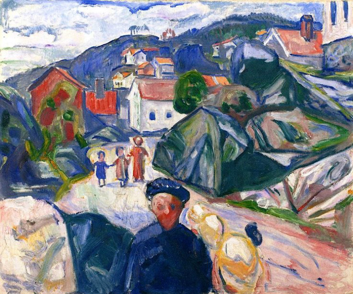 Edvard Munch - Street In Krager