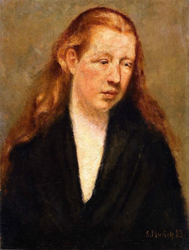 Edvard Munch - Study Of A Head